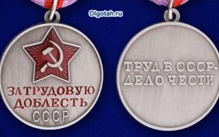 Предоставление каких льгот за медаль за трудовую доблесть предусмотрено в России