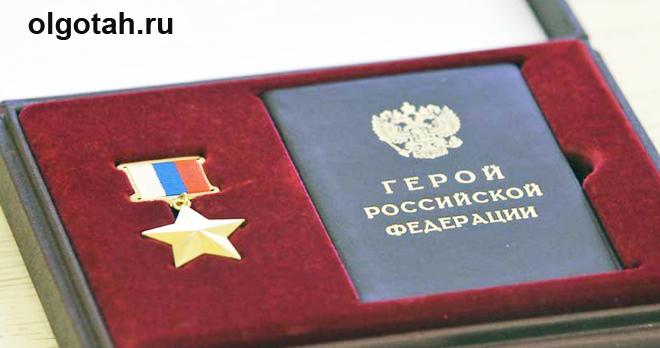 Удостоверение и значок Герой России