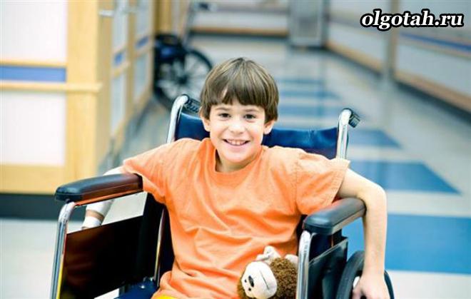 Ребенок-инвалид в больнице
