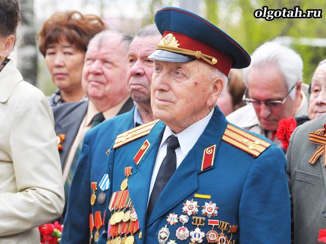 Ветеран с медалями