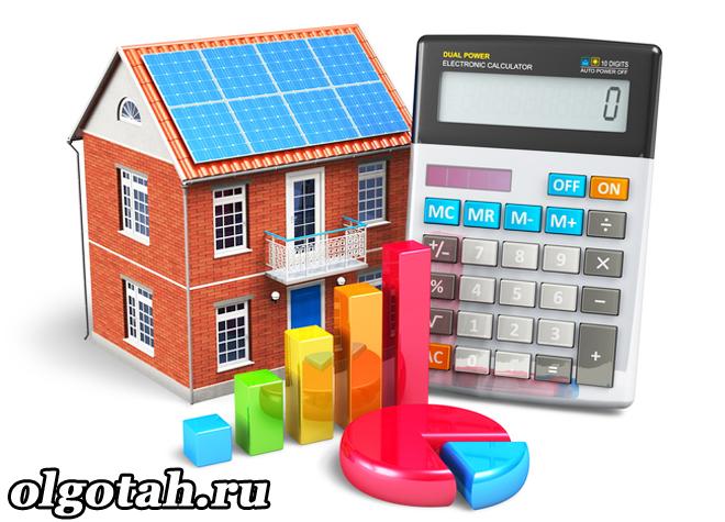 Игрушечный домик, калькулятор, графики