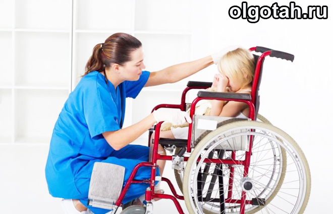 Ребенок-колясочник и врач