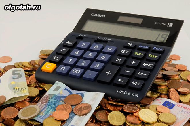 Калькулятор, монеты