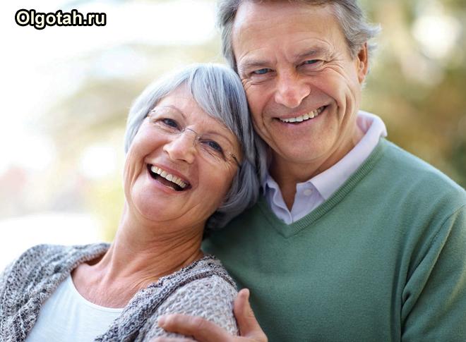 Счастливая семейная пенсионеров