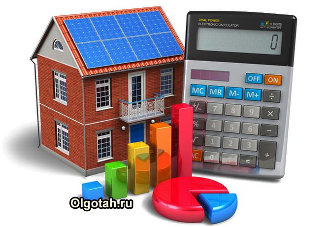 Игрушечный домик, калькулятор