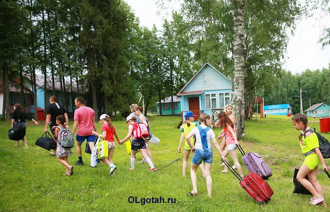 Заезд в корпуса в детском лагере