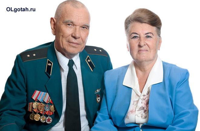 Военный со своей женой