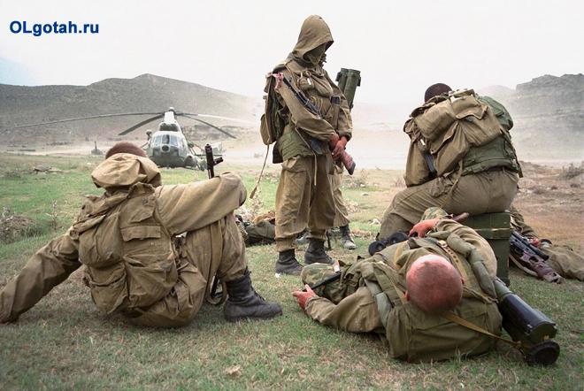Военные на выполнении задания